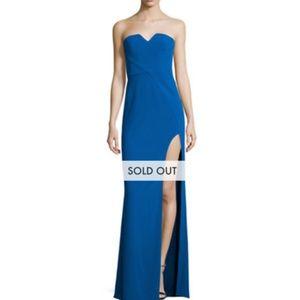 Halston Heritage slit lapis dress 4 nwt